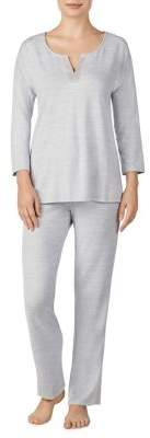 Ellen Tracy Two-Piece Heathered Pajama Set