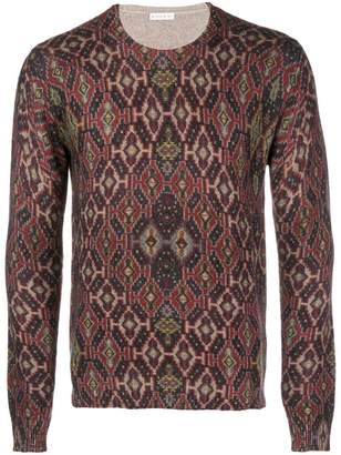 Etro patterned knit sweater
