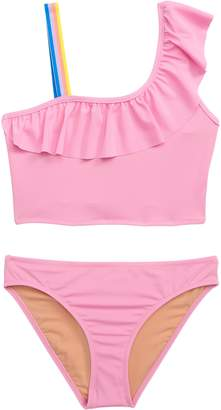 4658f8f98e J.Crew crewcuts by Ruffled One-Shoulder Two-Piece Swimsuit