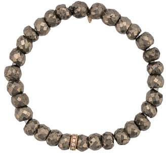 Sydney Evan 14kt gold pyrite beaded bracelet