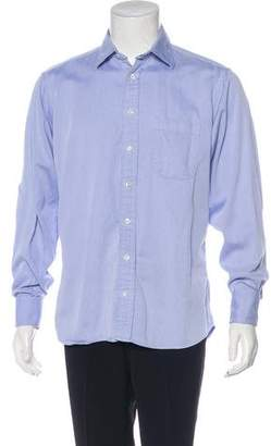 Burberry Patterned French Cuff Shirt