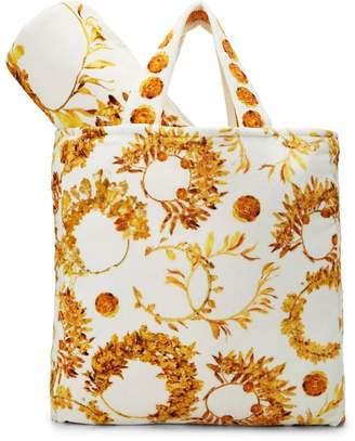 Chanel White & Yellow Camellia Terry Cloth Beach Set