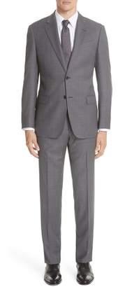 Emporio Armani G-Line Trim Fit Bird's Eye Wool Suit