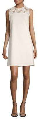Donna Ricco Embroidered Lace Sleeveless Dress