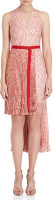 Akris Printed Asymmetric Hi-Low Dress