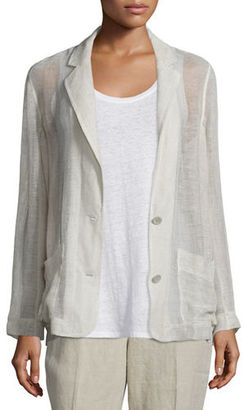 Eileen Fisher Mesh Two-Button Blazer, Natural $194 thestylecure.com