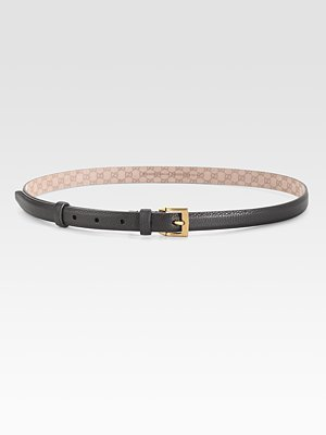 Square Buckle Skinny Belt
