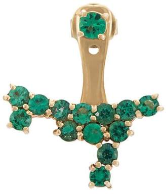 Anita Ko emerald cluster ear jacket