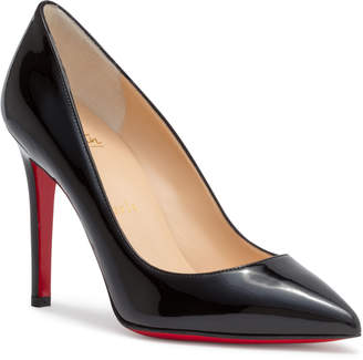 Christian Louboutin Pigalle 100 Black Patent Leather Pumps