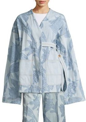 Acne Studios Olinda Floral Denim Jacket