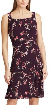 Chaps Petite Floral Squareneck Dress