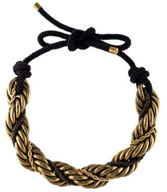 Lanvin Roped Choker Necklace Gold Roped Choker Necklace