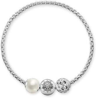 Thomas Sabo Unisex-Stopper for Necklace Bracelet Karma Beads 925 Sterling Silver blackened Silicon KS0001-585-12 21M6l0