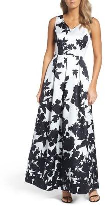 Women's Ellen Tracy Floral Print Faille Gown $168 thestylecure.com