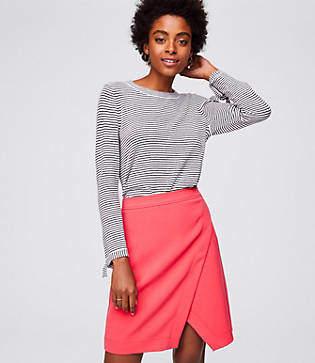 LOFT Tall Doubleface Wrap Skirt