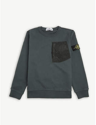 Stone Island Crew neck long-sleeved pocket jumper 6-14 years