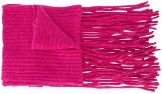 Helmut Lang long lattice scarf