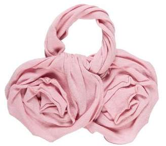 Magaschoni Floral Cashmere Scarf