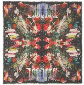 Alexander McQueen Floral-printed wool-blend scarf
