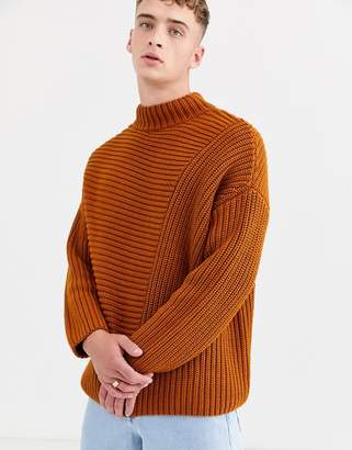 Asos oversized sweater in chunky rust knit