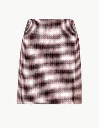 Marks and Spencer Jersey Checked A-Line Mini Skirt