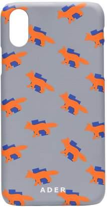 X Ader fox print iPhone X case