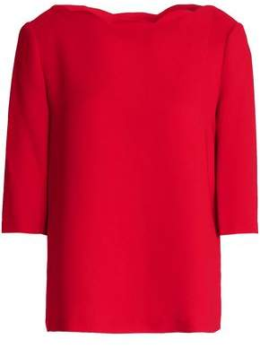Claudie Pierlot Scalloped Satin-crepe Top