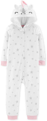 Carter's Toddler Girls Unicorn Fleece Footless Pajamas