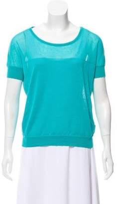 agnès b. Short Sleeve Knit Top Aqua Short Sleeve Knit Top