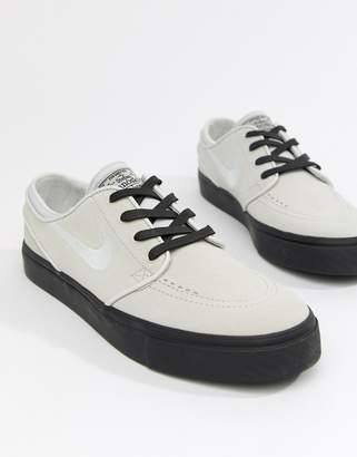 Nike Sb SB Zoom Stefan Janoski Suede Sneakers In Grey 333824-068