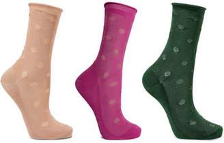Falke Set Of Three Metallic Knitted Socks
