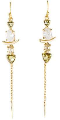 Alexis Bittar Miss Havisham Crystal Dangling Spear Earrings