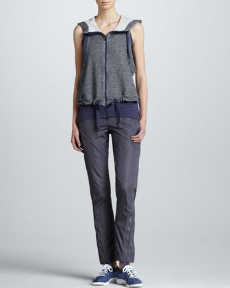adidas by Stella McCartney Tech-Fabric Parachute Pants