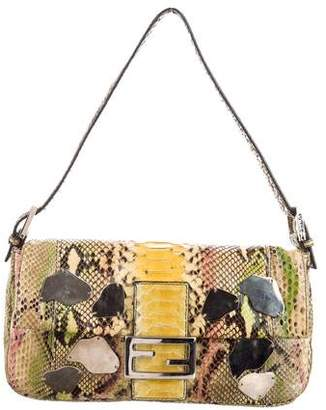 Fendi Snakeskin Baguette Bag