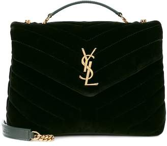 Saint Laurent Small Loulou Monogram velvet shoulder bag
