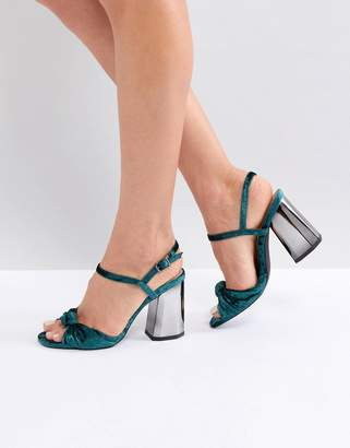 London Rebel block heel sandals