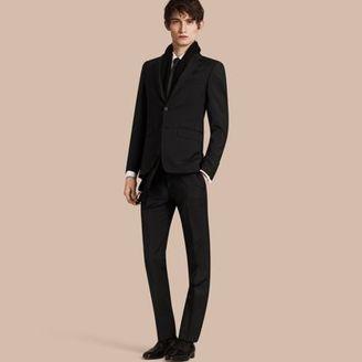 Burberry Slim Fit Wool Mohair Part-canvas Suit $1,550 thestylecure.com
