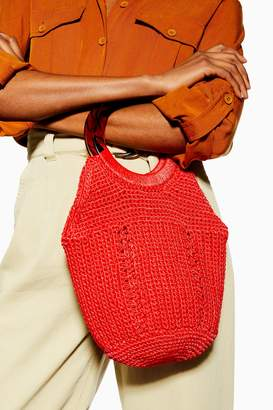 Topshop Red Sea String Tote Bag