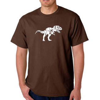 LOS ANGELES POP ART Los Angeles Pop Art Tyrannosaurus Rex Short SleeveWord Art T-Shirt - Big and Tall