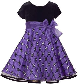 Bonnie Jean Short Sleeve Party Dress - Big Kid Girls Plus
