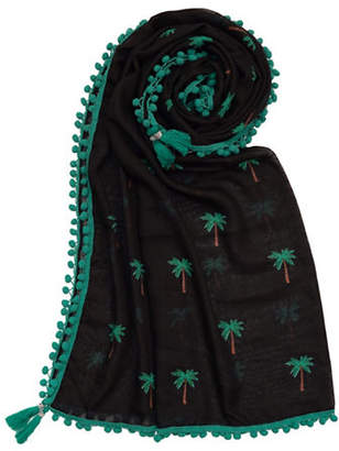 Lord & Taylor Palm Trees Square Scarf