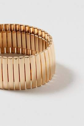 Topshop **Wide Clean Metal Stretch Bracelet