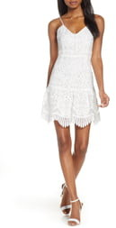 BB Dakota Party Has Arrived Scallop Lace Sundress