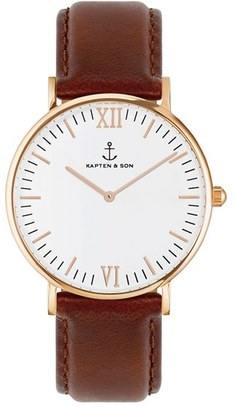 KAPTEN AND SON 'Campina' Leather Strap Watch, 36mm $159 thestylecure.com