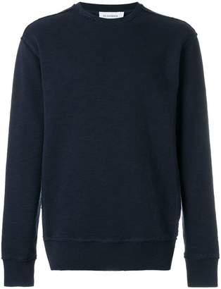 Jil Sander raw stitch crew neck sweater
