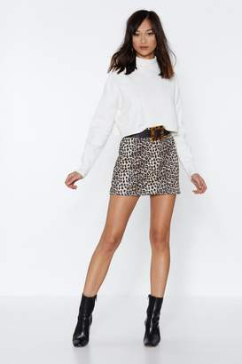 Nasty Gal Put Your Claws Away Leopard Skirt