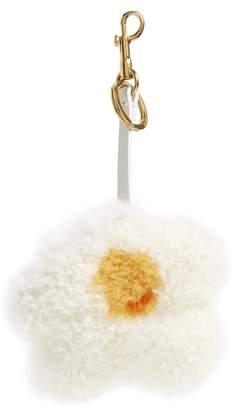 Anya Hindmarch Egg Genuine Shearling Bag Charm