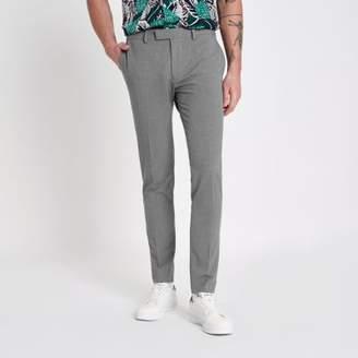 River Island Grey super skinny suit pants