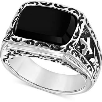 Scott Kay Men's Onyx Ring in Sterling Silver