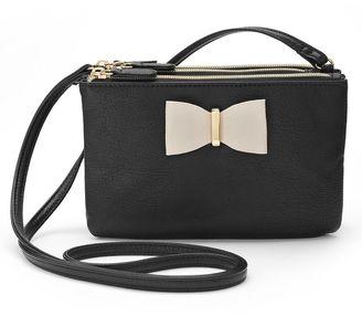 Apt. 9® Bow Triple Entry Crossbody Bag $36 thestylecure.com